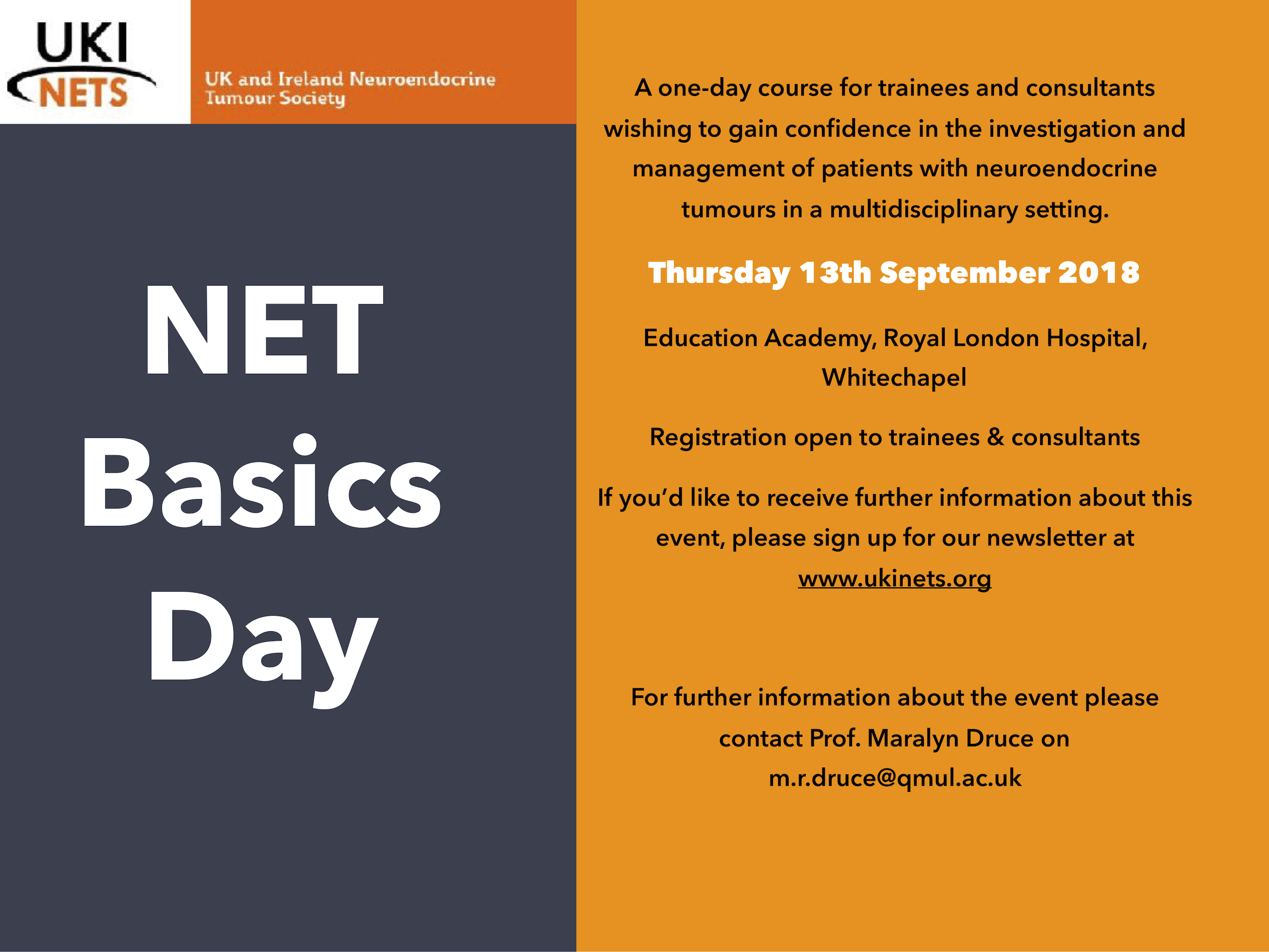 NET Basics Day save the date flyer